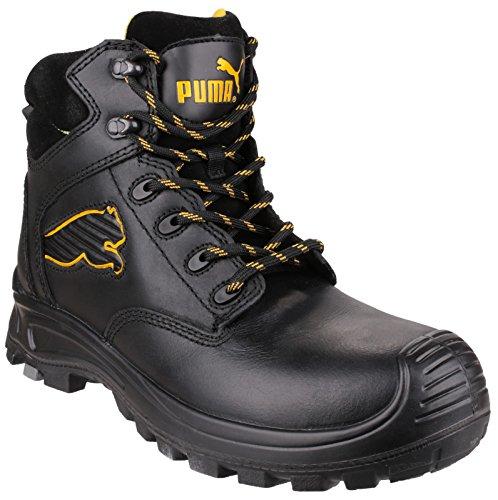 PUMA Borneo Mitte Mens Safety Work Boot Schwarz