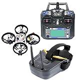 GEHOO GH KINGKONG ET100 Brushless RC Racing Drone Quadcopter RTF avec 800TVL Appareil photo Vidéo VTX Des lunettes de protection