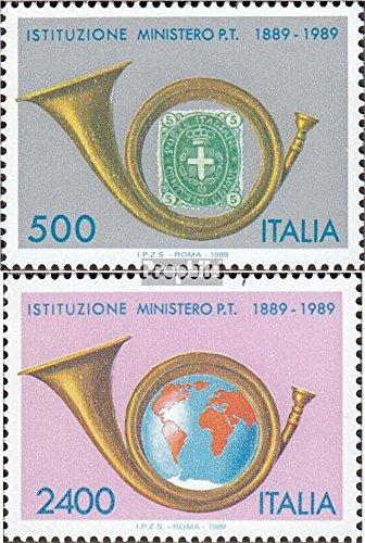 Italien 2088-2089 (kompl.Ausg.) 1989 Post- und Fernmeldewesen (Briefmarken für Sammler)