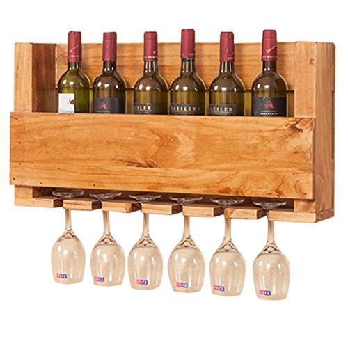 Zhang Xiao Hong Shop Multifunktions-Weinregal des festen Holzes/hängenden im europäischen Stil...