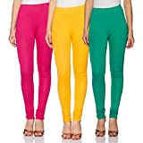 Amazon Brand- Myx Women's legging Bottom (Pack of 3)(LEGP03YFG_Yellow Fuchsia Green_S)
