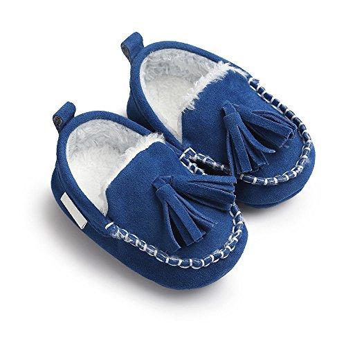 Loafer Weichen Sohlen Leder Schuhe (JILIGUALA Neugeborenen Baby Mädchen Jungen Wildleder Oberen Mokassin Hausschuhe Quasten Weiche Sohle Loafer Kleinkind Schuhe)