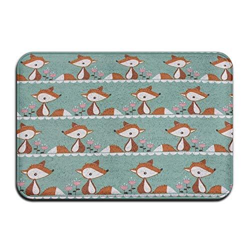 91627aaadd3c Sdltkhy Doormats Cute Little Fox Organic Jersey Entrance Indoor Outdoor  Area Rug Bathroom Fleece Home Decor