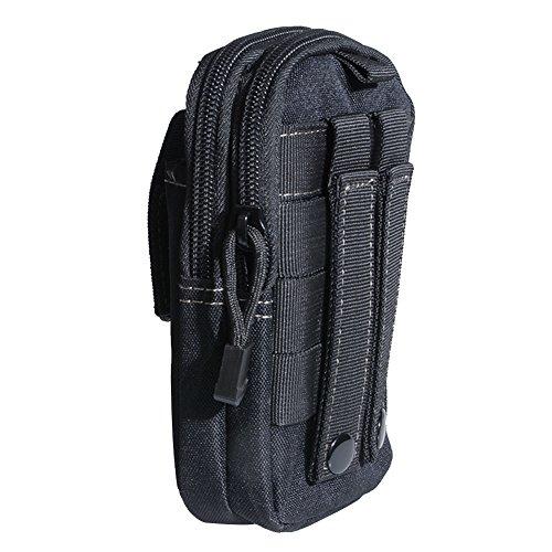 Yiwa Gürtel Taille Tasche Multifunctional Utility Tactical Tasche Gadget Tactical Beutel Tool Organizer Tasche Handy Holster Halterung, Black with Gray Line