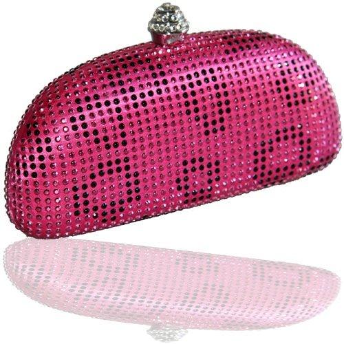 Brauttasche Abendtasche Clutch Tasche pink Hartschale