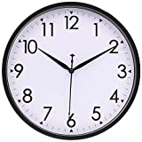 Hippih Silent Wall Clock Non-ticking Quartz Decorative Wall Clock