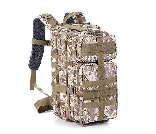 Outdoor wasserdichte Tarn Riding Rucksack / schwarz Computer Fotografie Tasche / 30L Military Tactical Rucksack Camouflage Rucksäcke Assault Pack für Männer desert
