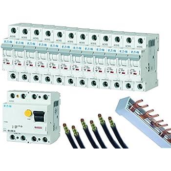 FI-/LS-Schalter-Set EATON, 12 Automaten B16A, FI-Schalter 40/0,03A ...