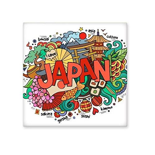 DIYthinker Ich liebe Japan Asien Kultur bunte nette Sakura Bonsai Geisha Sushi Hand dekoriert Art Illustration Muster Keramik Bisque Fliesen für Dekorieren Badezimmer- S