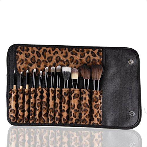 XUAN Brosse cosmétiques portable de velours léopard-12 set journaux