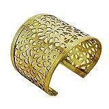 Banithani Goldtone Messing Manschette Stammes-indischen Mode Armband Schmuck-Geschenk für Sie