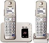 Panasonic KX-TGE 222 DUO Schnurlostelefon mit Anrufbeantworter (DECT)