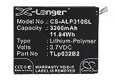 CS-ALP310SL Batteria 3200mAh [ALCATEL] One Touch Pixi 3 8.0 3G, One Touch Pixi 3 8.0 WiFi, One Touch Pixi 8, One Touch POP 7, One Touch Pop 7 LTE, One Touch Pop 7S, One Touch Tab 7, OT-9006W, OT-9015W, OT-P330X, P310A sostituisce TLp032B2, TLp032BD, TLp032C2
