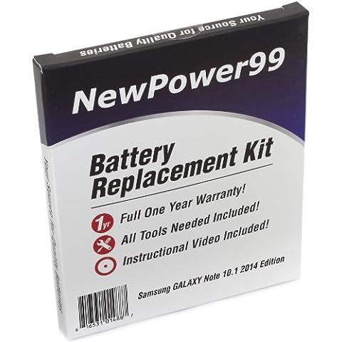 Kit de Reemplazo de la Batería para Samsung GALAXY Note 10.1 2014 Serie (GALAXY Note 10.1 2014 SM-P600, GALAXY Note 10.1 2014 SM-P600, GALAXY Note 10.1 2014 SM-P605) Tablet con Video de Instalación, Herramientas y Batería de larga
