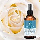 Gesichtswasser- Feuchtigkeitsspendendes Gesichtsspray- Bio und Natürliches Hamamelis und Rosenwasser mit Astringierender Wirkung. Für alle Hauttypen Geeignet ( Trockene, Fettige, Mischhaut, Sensitive und zu Akne neigende Haut) - 120ml