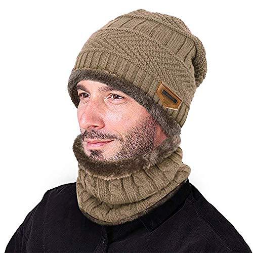 Yuson Girl Cappello Uomo Invernale Berretti e Sciarpe Uomo con Sciarpa Uomo  Berretti in Maglia ... cc3bbc02a0c8