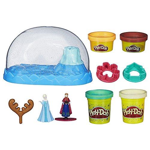 Hasbro play-doh disney frozen sparkle snow dome set con elsa e anna