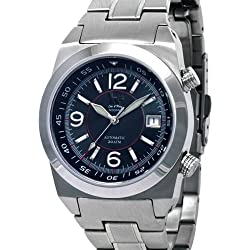 Lew and Huey 200 Meter Dual Crown Automatic Dive Watch with Strap and Bracelet Acionna-BR