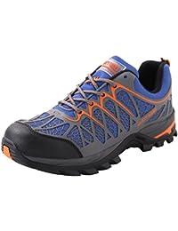 Senderismo Zapato Zapatillas De Seguridad para Hombres Trabajo con Tapa Acero Industria Calzado Deporte Antideslizantes