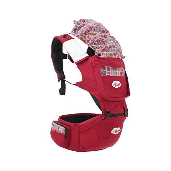 ISEE Baby Carrier Sling Detachable Hip seat Baby Registry Newborn Birth Child Infant   Comfort Cotton Ergo Front Carrier wrap with Hood Shoulder Harness Support Adjustable Perfect Nursery Sets ISEE ✿THE ERGONOMIC DESIGN - ISEE Baby carrier supports babies of all sizes, from small three-month-olds to lovely toddlers.This design takes the weight of your baby and evenly distributes it to your hips, so your back and shoulders don't get sore. The top carriers tried and tested by expert mom and dad reviewers, there's a front or back carrier to suit your lifestyle. ✿STYLISH CONVENIENT COMFORT - Ergonomic Hip seat carrier provides maximum comfort for parents and babies with Stylish Design foldable head and neck support allows you to carry your baby in 10 Different ways (including front, forward facing, back, and hip carry positions). ✿QUALITY IS OUR PRIORITY - It has been our priority to provide baby carriers of high quality at favorable prices, and providing proper stretching of the material, Soft and durable 100% cotton with 3D mesh insert for temperature control and comfort for you and your baby. which is crucial for correct support of the baby's spine and comfortable spreading of the weight on shoulders of the carrying person. 3