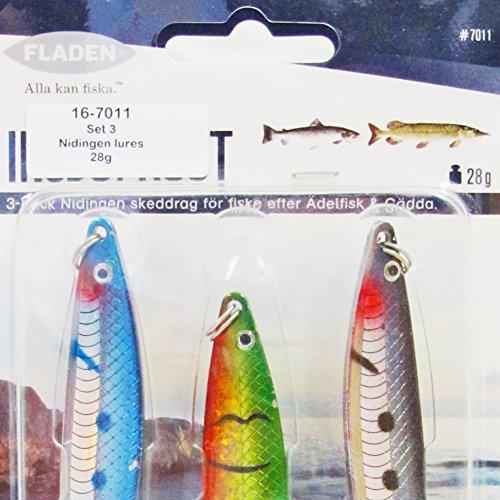 Fladen-3x Set di esche da pesca affondamento lento nidingen (18e