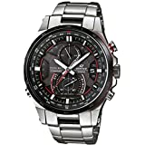 Casio - EQW-A1200DB-1AER - Montre Homme - Quartz Chronographe - Radio/Boussole/Chronomètre/Solaire - Bracelet Acier Inoxydable Argent