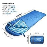 Mountaintop Schlafsack, ultraleicht mit kleinstem Packmaß Reiseschlafsack Sommerschlafsack leicht Deckenschlafsack - 2
