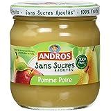 ANDROS Pomme Poire sans Sucre Ajouté 410 g - Lot de 3