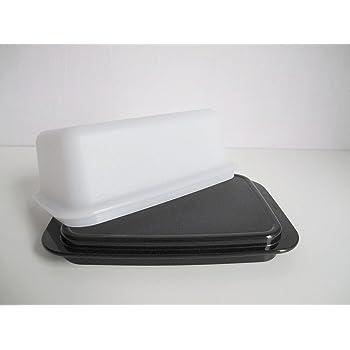 tupperware bo te beurre ou de tr sor blanc noir c21. Black Bedroom Furniture Sets. Home Design Ideas