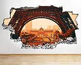 AA499 Paris Eifel Turm Stadt Cool Zertr¨¹mmert Wandtattoo