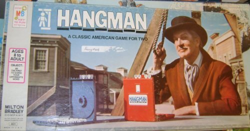 ORIGINAL VINTAGE 1976 HANGMAN CLASSIC ANTIQUE BOARD GAME-COLLECTIBLE TOY by Milton Bradley