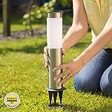 GARD & ROCK - BORNE SOLAIRE en inox - LEDs SMD - Fonction lanterne amovible - Quick...