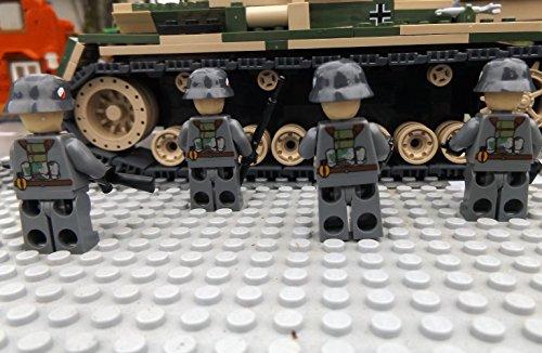 Modbrix 8819 – ✠ 2 Stück Custom Minifiguren Deutsche Wehrmacht Afrika Korps Soldaten aus original Lego® Teilen ✠ - 4
