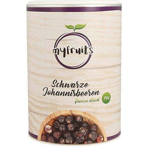 myfruits gefriergetrocknete Johannisbeeren 1er Pack, ganze Früchte, aus 1,5 kg frischen Früchten, ohne Zusätze, knuspriger Snack, perfekt für Müsli oder Joghurt, Abgefüllt in Deutschland (1 x 150g)