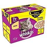 Whiskas 7+ Katze Beutel Cremige Suppe Geflügel 12 Pro Packung