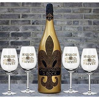 D-Rock-Champagner-15-L-Magnum-mit-4-schwarzen-Champagnerglsern-inkl-franzsischer-Lilie-Geschenknachricht-Diamond-Kristall-Champagne-mit-ber-1000-geschliffenen-Schmuckkristallen-jede-Flasche-ein-Unikat