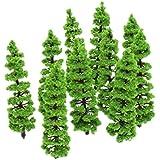 10pcs Model Fir Tree Scenery Landscape Model (Green)
