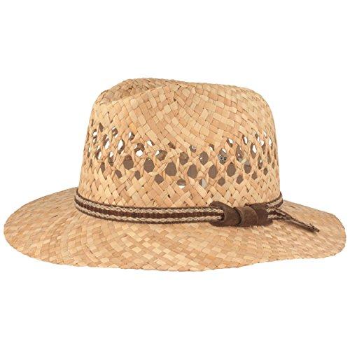 (Strohhut | Sommerhut | Sonnenhut – Handgeflochten aus 100% Stroh – Traveller – Besonders Leicht, Flexibel, Hautfreundlich & Bequem – Gr. 60)