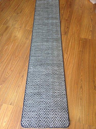 Tappeto stuoia cm 50 x 250 cucina corridoio juta moderno spigato grigio geometrico