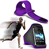( Dark Purple 144 x 71 ) Ulefone BE Pure Lite case High Quality Fitted Sports Armbands Running Bike Cycling Gym Jogging Ridding Arm Band case cover by i-Tronixs