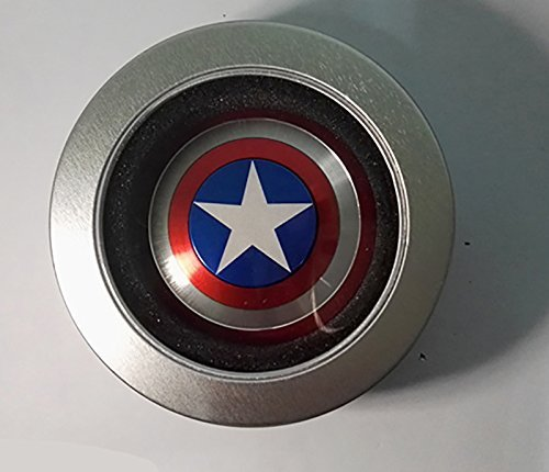 The Anti-Anxiety 360 Spinner Fidget Toy Captain America Marvel Super Heroe Shield Helps Focusing Premium Quality EDC for Kids & Adults Stress Reducer Relieves ADHD Anxiety Boredom Ceramic Cube Bearing - 4