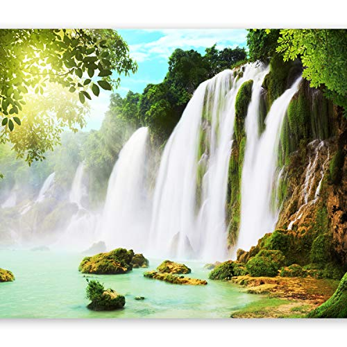 murando - Fotomurales 350x256 cm XXL Papel pintado tejido no tejido Decoración de Pared decorativos Murales moderna de Diseno Fotográfico cascada paisaje naturaleza c-A-0026-a-a