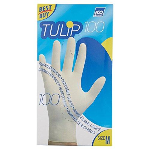 guanti di lattice Tulip Guanti Taglia M