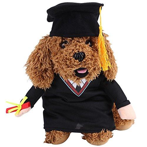 GLOGLOW Haustier Hund Katze Kostüm Anzug, lustige Haustier Outfit akademischen Kleid Welpen Katze Cosplay Bachelor Kleidung Weihnachten Thema Party Kostüm(S)