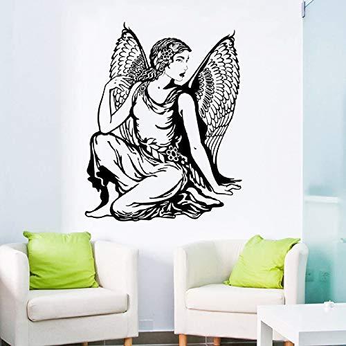 YuanMinglu Klassische schöne Engel abnehmbare Vinyl wandaufkleber Home Interior Design tapete Dekoration schwarz 45x57 cm (Home Interior Rahmen, Dekorationen)