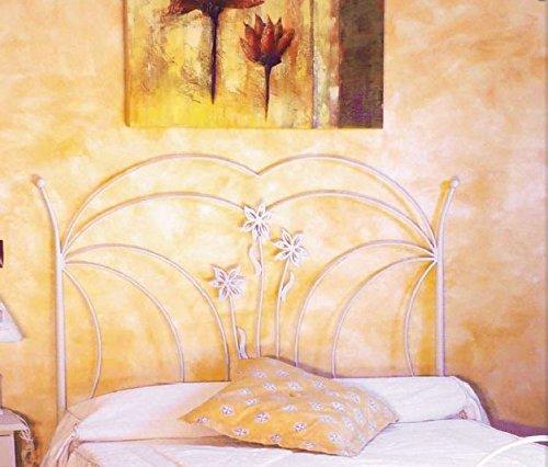HOGARES CON ESTILO - Cabecero descuento del 50%. De forja nacional modelo París, color Blanco para cama de 135 cms, (Varios colores y medidas disponibles).