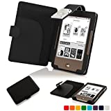Forefront Cases® Tolino Page Shell Hülle Schutzhülle Tasche Bumper Folio Smart Case Cover Stand mit LED Licht - Leicht mit Rundum-Geräteschutz (SCHWARZ)