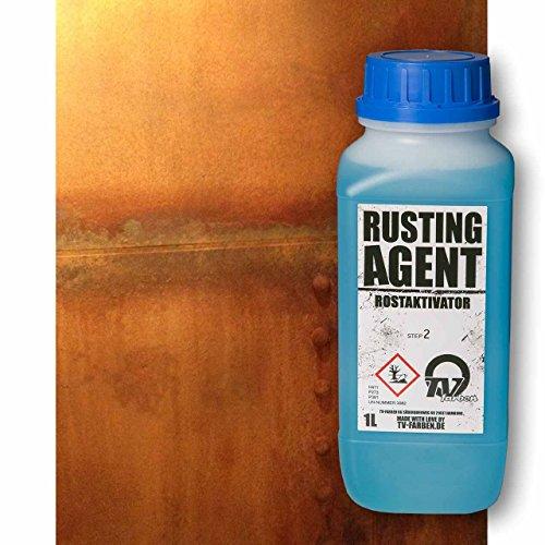 Rusting Agent Rostaktivator 1l - Oxidationsmittel für Rosteffekt Rostoptik Echt-Rost Cortenstahl