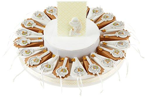 Sindy bomboniere 8054382130 torta prima comunione chiave, resina, panna, 30 x 30 x 5 cm,