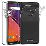 ebestStar - Coque Wiko View 16GB 32GB Etui Housse Silicone Gel Anti-Choc Ultra Fine Invisible, Transparent + Film Verre Trempé [NB: Lire Description] [Appareil: 151.5 x 73.1 x 8.7mm, 5.7'']